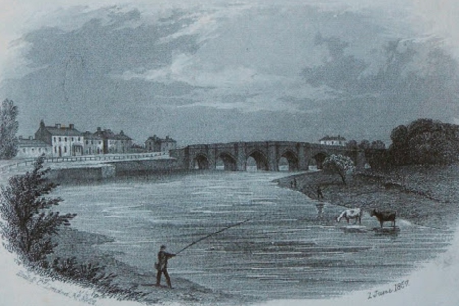 Tees Bridge - Croft - 1867