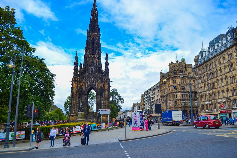 Scott Monument and Princes Street Now