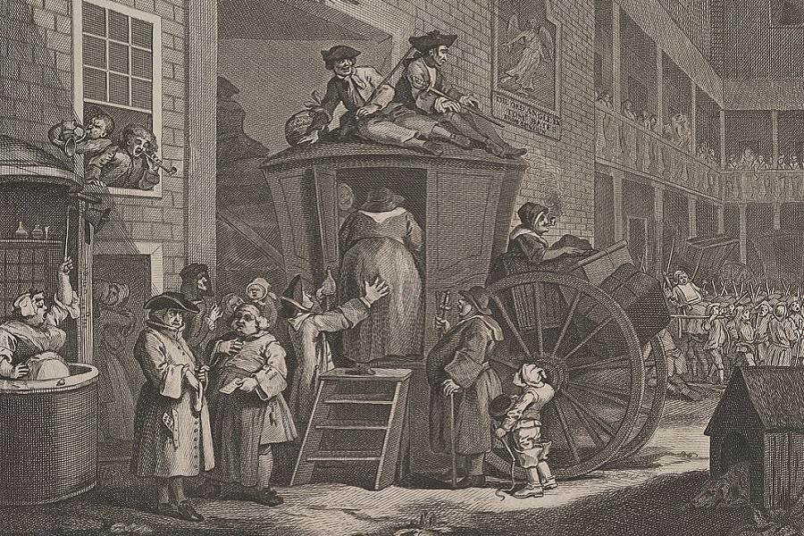 London Coaching Inns -Angel, - Hogarth - 1747