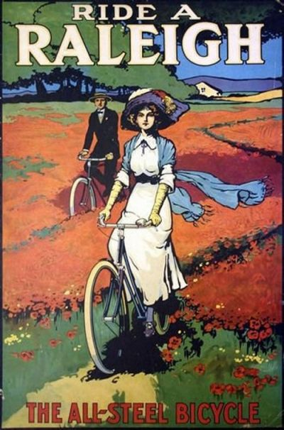 Raleigh Poster - Edwardian Lady