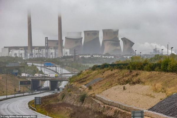 Ferrybridge Power Station Demolition