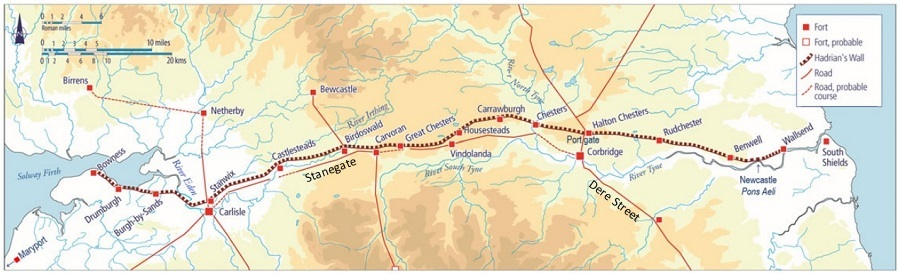 Hadrian's Wall - Map