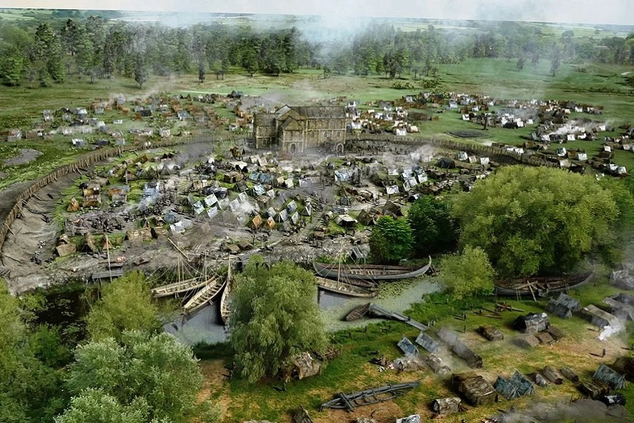 Viking Camp - Repton - Reconstruction