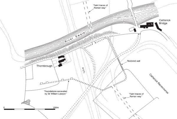 Plan of Roman Catterick by MacLauchlan