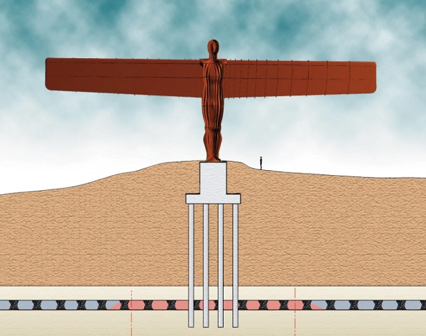 Angel of the North - Foundation