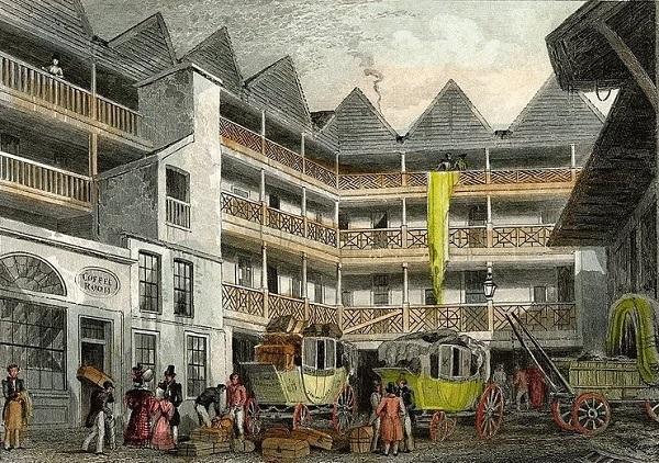 Bull and Mouth Inn c1820