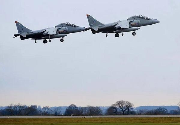 RAF Wittering - Harrier Flypast