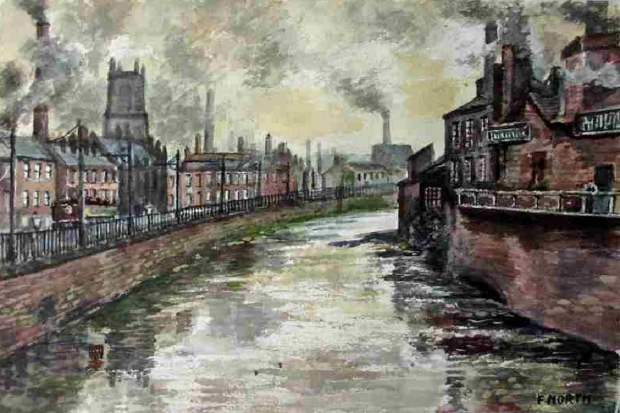 River Don - Sheffield - Frank North c1960