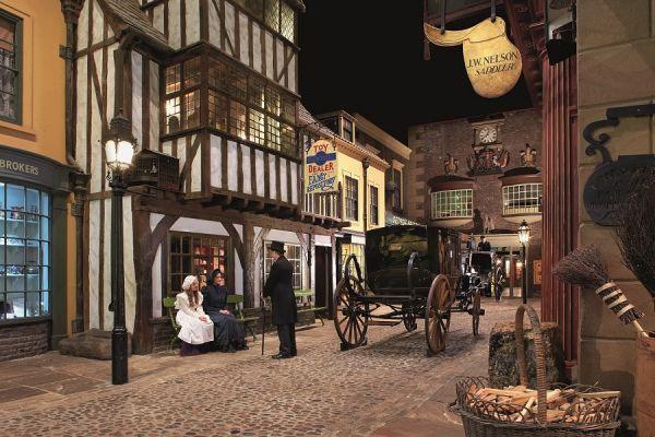 Cobbled Street in York Castle Museum