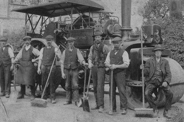 Road Building - York Steam Roller